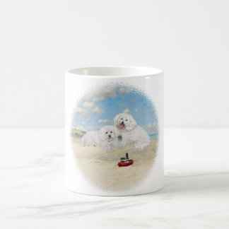 Bichons at the Beach Coffee Mug