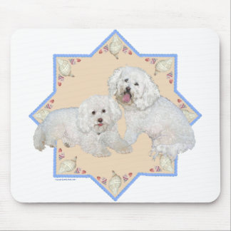 Bichons Beach Days Mouse Pad