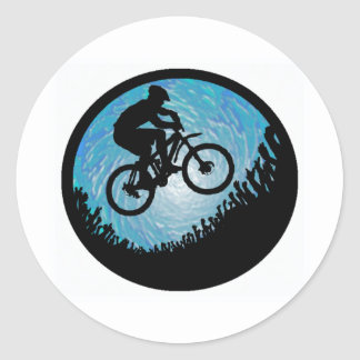 Bici abierta de par en par pegatinas redondas
