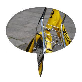 Bici amarilla Amsterdam Decoraciones Para Tartas