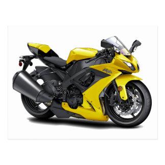 Bici amarilla de Ninja Tarjetas Postales