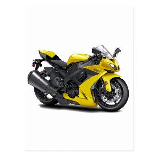 Bici amarilla de Ninja Postal