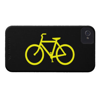 Bici amarilla funda para iPhone 4