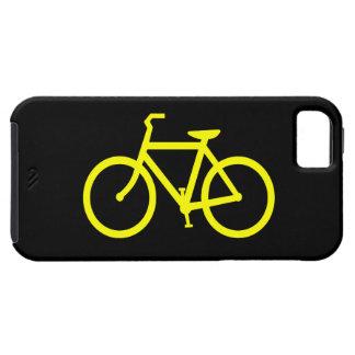 Bici amarilla funda para iPhone SE/5/5s