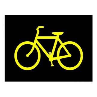 Bici amarilla postales