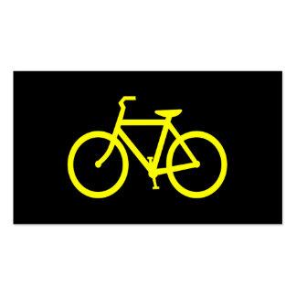 Bici amarilla tarjetas de visita