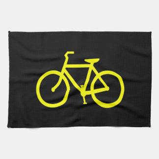 Bici amarilla toalla