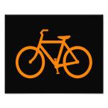 Bici anaranjada arte con fotos