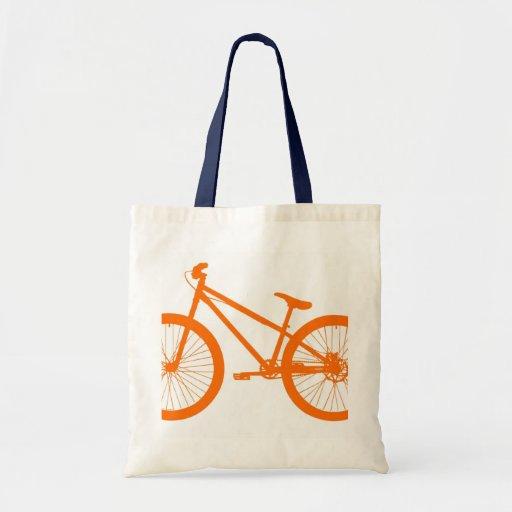 Bici anaranjada bolsa tela barata