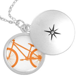 Bici anaranjada pendientes personalizados