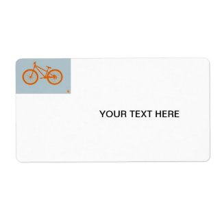Bici anaranjada etiquetas de envío