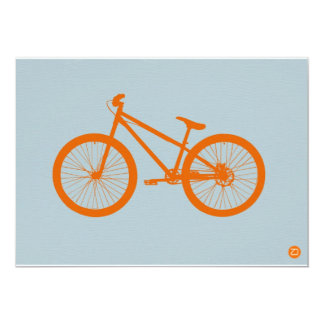 "Bici anaranjada invitación 5"" x 7"""