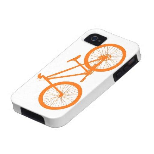 Bici anaranjada iPhone 4 funda