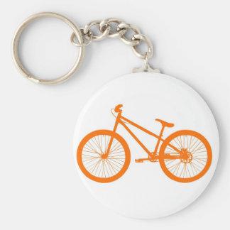 Bici anaranjada llaveros personalizados