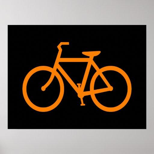 Bici anaranjada póster