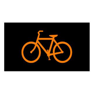Bici anaranjada tarjetas de visita