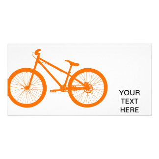 Bici anaranjada tarjetas personales