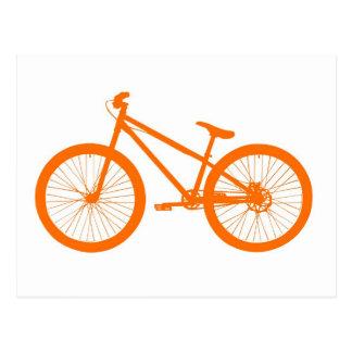 Bici anaranjada postal