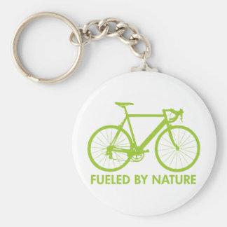 Bici aprovisionada de combustible por la naturalez llavero redondo tipo pin
