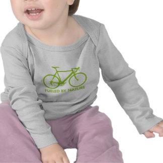 Bici aprovisionada de combustible por la camiseta