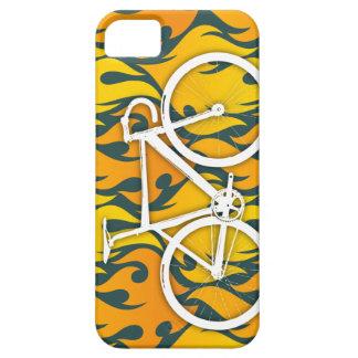 Bici ardiente de la pista iPhone 5 carcasas