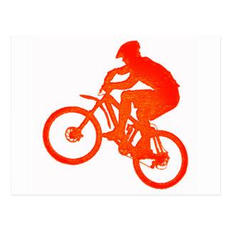 Bici atada para arriba postal
