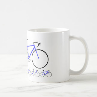 Bici azul del camino tazas de café