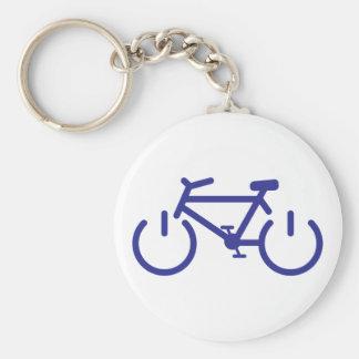 Bici azul del poder llaveros