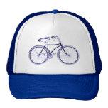 Bici azul gorra