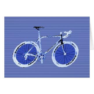 bici azul grande felicitacion