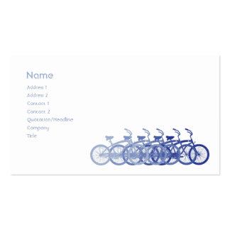 Bici azul - negocio plantilla de tarjeta de negocio