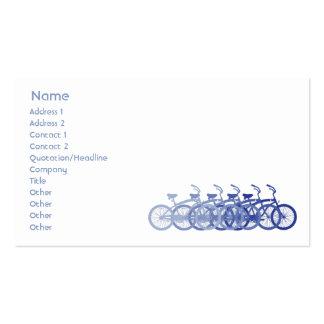 Bici azul - negocio tarjetas de visita
