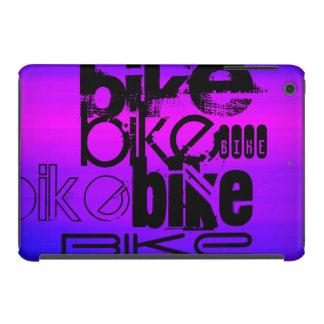 Bici; Azul violeta y magenta vibrantes Fundas De iPad Mini Retina