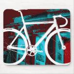 Bici Berlín - azul rojo de la pista Alfombrillas De Raton