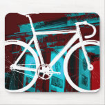 Bici Berlín - azul rojo de la pista Alfombrilla De Ratones