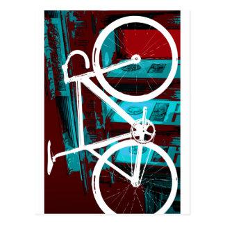 Bici Berlín - azul rojo de la pista Postal