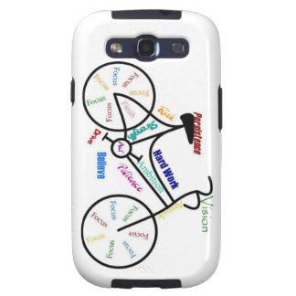 Bici, bicicleta, ciclo, deporte, el Biking, de mot Galaxy S3 Fundas