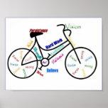 Bici, bicicleta, ciclo, deporte, el Biking, de mot Poster