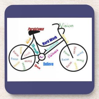 Bici, bicicleta, ciclo, deporte, el Biking, de mot Posavasos De Bebida