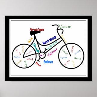 Bici, bicicleta, ciclo, deporte, el Biking, de mot Póster