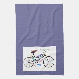 Bici, bicicleta, ciclo, deporte, el Biking, de mot Toalla De Cocina
