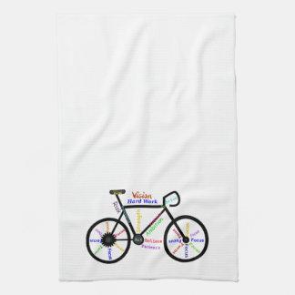 Bici, bicicleta, ciclo, deporte, el Biking, de mot Toallas De Mano