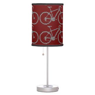 bici, bicicleta; el biking/que completa un ciclo lámpara de mesa