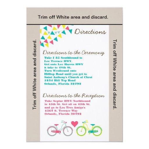 bici Bicyc de los amantes de la tarjeta de las Invitación 12,7 X 17,8 Cm