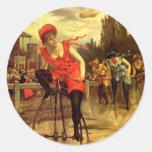 Bici Biking de moda del vintage del pegatina que