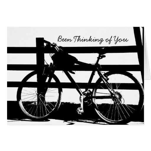 Bici/Black&White que Pensar-de-usted carda Tarjetón