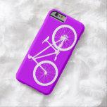 Bici blanca en púrpura funda de iPhone 6 barely there
