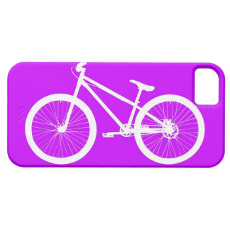 Bici blanca en púrpura iPhone 5 Case-Mate carcasas