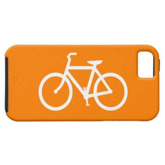 Bici blanca y anaranjada funda para iPhone SE/5/5s