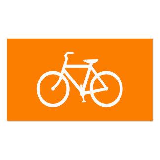 Bici blanca y anaranjada tarjetas de visita